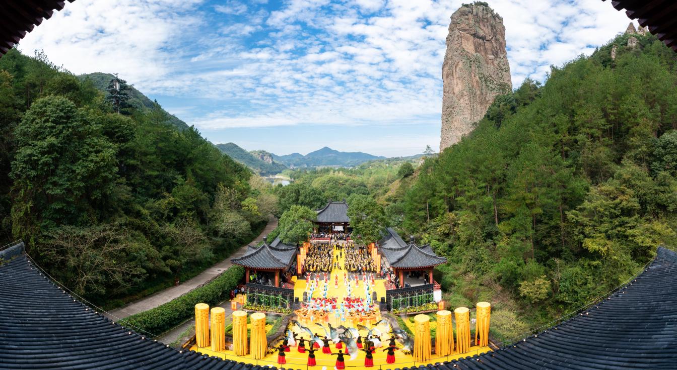四海同心,华夏共祭,庚子(2020)年中国仙都祭祀轩辕黄帝大典隆重举行。