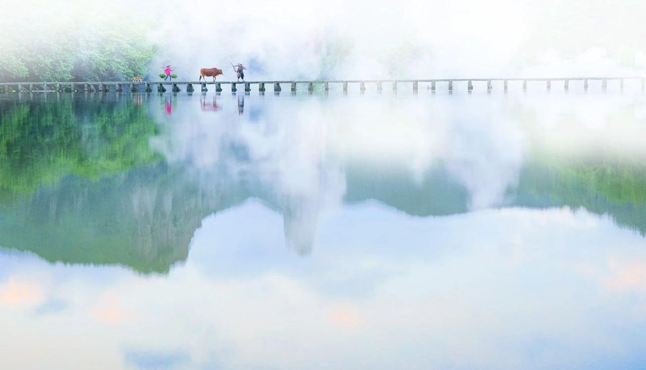 千年沧桑石板桥——仙都网红打卡地